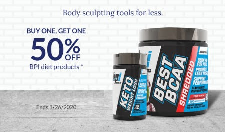 BOGO 50% Off BPI Diet Products from The Vitamin Shoppe