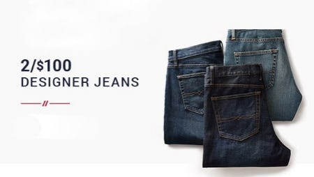 2 for $100 Designer Jeans from Men's Wearhouse and Tux