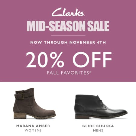 Clarks Mid-Season Sale from Clarks