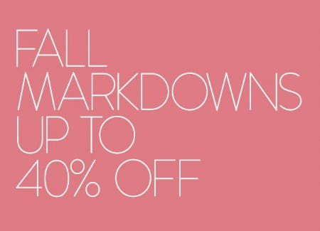 Fall Markdowns up to 40% Off from Nordstrom