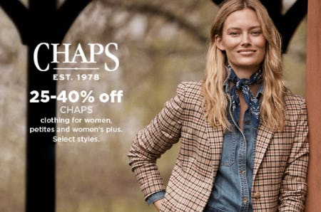 25-40% Off Chaps from Kohl's