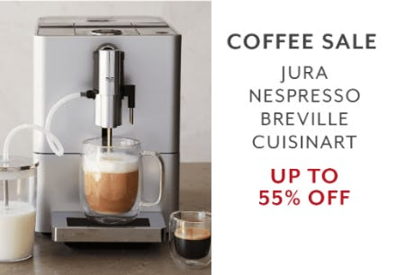 Up to 55% Off Coffee Sale from Sur La Table