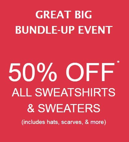 50% Off All Sweatshirts & Sweaters from maurices