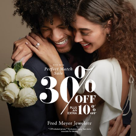 Perfect Match Sale from Fred Meyer Jewelers