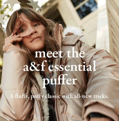 Meet the A&F Essential Puffer from abercrombie kids