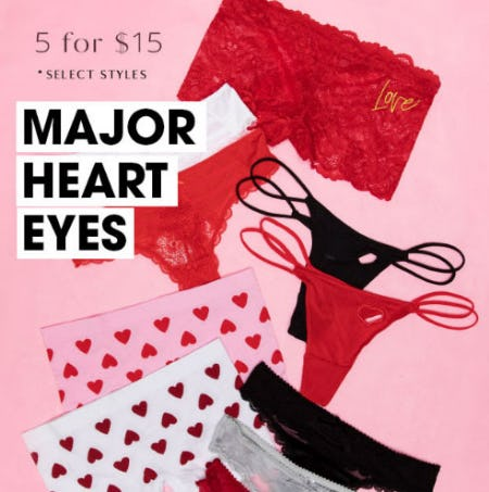 5 for $15 Panties from Tillys