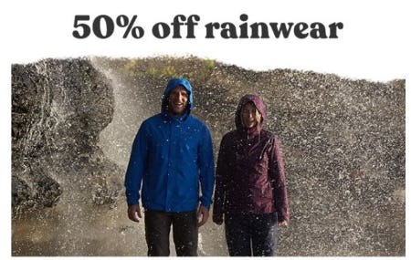 50% Off Rainwear from Eddie Bauer