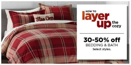 30–50% Off Bedding & Bath from Kohl's