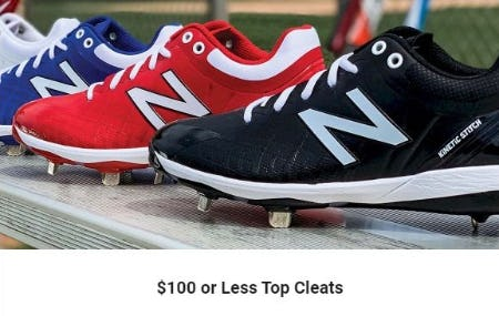 $100 or Less Top Cleats from Dick's Sporting Goods