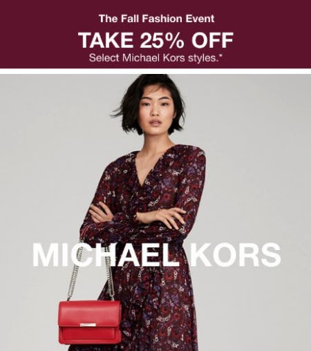 Take 25% Off Select Michael Kors Styles