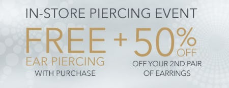 Free Ear Piercing With Purchase from Piercing Pagoda