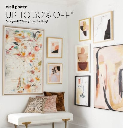 Up to 30% Off Art, Mirrors & Wall Decor from Z Gallerie