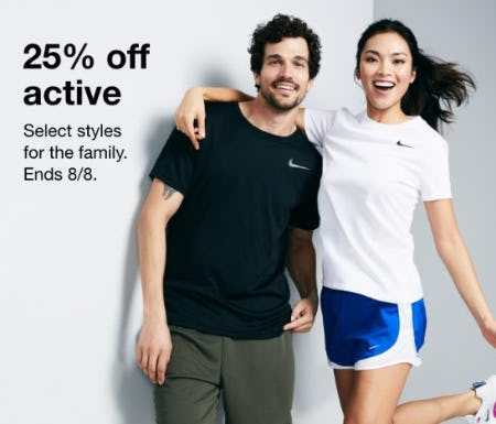 25% Off Active from macy's