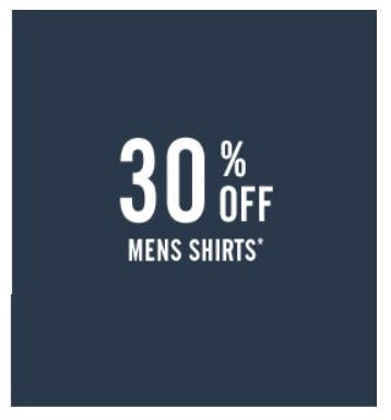 30% Off Men's Shirts
