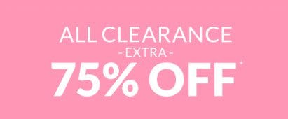 Extra 75% Off All Clearance