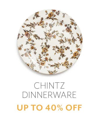 Up to 40% Off Chintz Dinnerware from Sur La Table