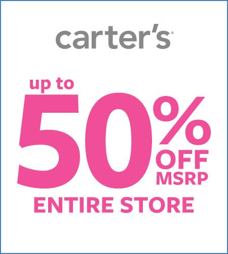 Up to 50% Off* Entire Store from Carter's