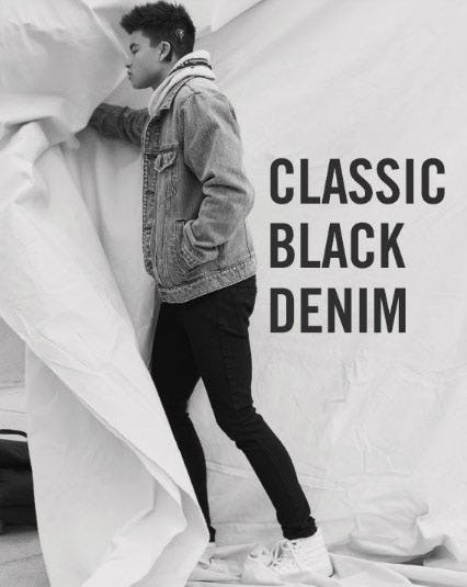 Classic Black Denim from Abercrombie & Fitch