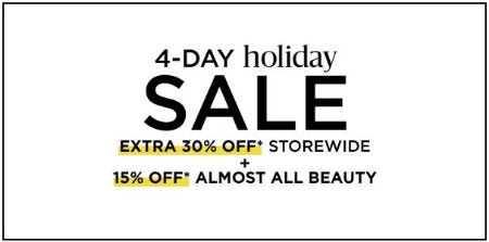 4-Day Holiday Sale from Lord & Taylor