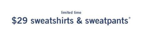 $29 Sweatshirts & Sweatpants from Abercrombie Kids