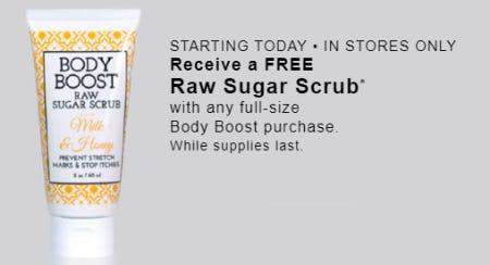 Free Raw Sugar Scrub