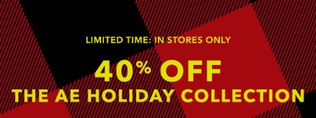 40% Off The AE Holiday Collection from American Eagle Outfitters