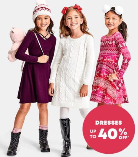 Dresses up to 40% Off from The Children's Place