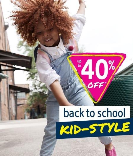 Up to 40% Off Back to School Kid-Style from Oshkosh B'gosh