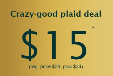 Crazy-good Plaid Deal $15 from maurices
