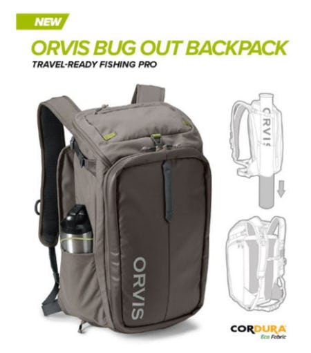 New: Orvis Bug Out Backpack from Orvis