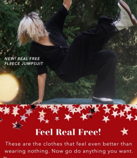 New! Real Free Fleece Jumpsuit