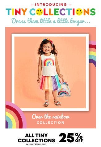 25% Off All Tiny Collections from The Children's Place