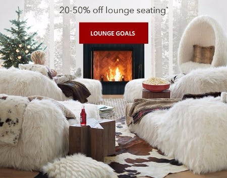 20–50% Off Lounge Seating