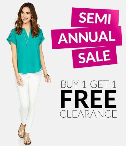 Semi Annual Sale from Charming Charlie