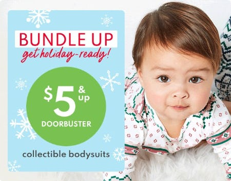 $5 & Up Doorbuster Collectible Bodysuits from Carter's