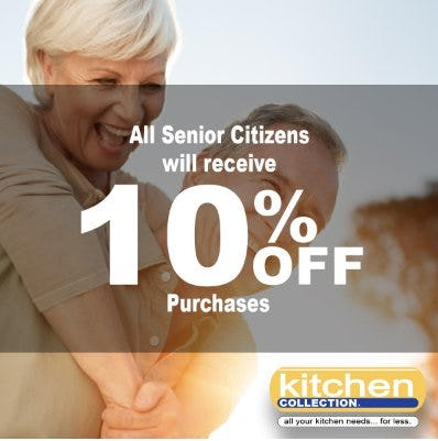 All Senior Citizens Will Receive 10% Off Purchases from Kitchen Collection
