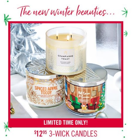 $12.95 3-Wick Candles from Bath & Body Works