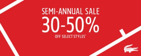 Up to 50% Off L!VE Polos, Tees & More from Lacoste