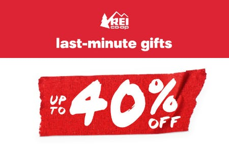 Last-Minute Gifts Up to 40% Off from REI