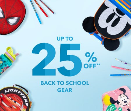 Up to 25% Off Back to School Gear from Disney Store