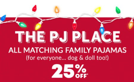 25% Off All Matching Family Pajamas from The Children's Place