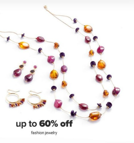 Up to 60% Off Fashion Jewelry