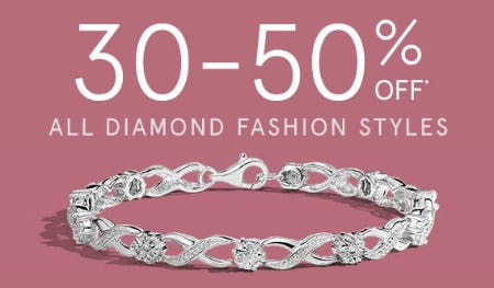 30-50% Off All Diamond Fashion Styles