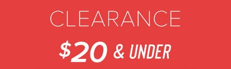 Clearance $20 & Under from francesca's