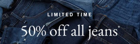 50% Off All Jeans