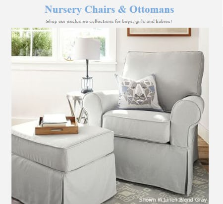 Shop Our Nursery Chairs & Ottomans
