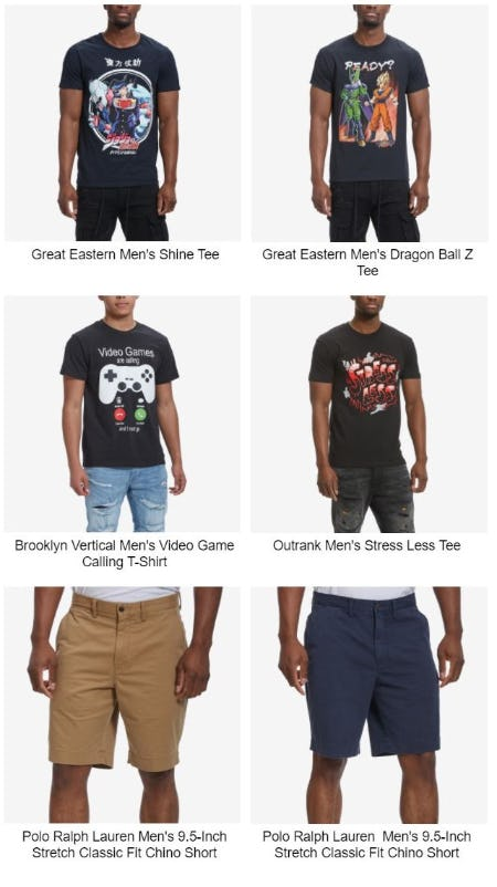 New Graphics Tees and Shorts Right on Time