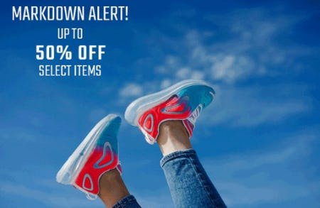Up to 50% Off Markdown Alert from Hibbett Sports