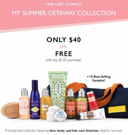 My Summer Getaway Collection Only $40 or Free With Any $120 Purchase