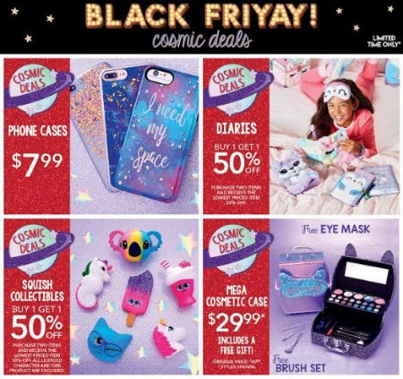 Find the best deals at Claire's on BLACK FRI-YAY!